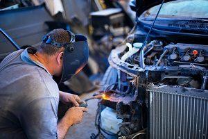 welding a car